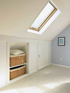 52 Super Ideas For Garage Attic Storage Ideas Built Ins Apartment Storage, Home, Bedroom Storage, Bedroom Loft, Garage Attic Storage, Attic Rooms, Secret Rooms, Attic Storage Solutions, Room Flooring