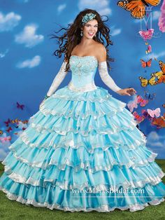 2015 Quinceanera Dresses Light Sky Blue Organza Ball Gowns Strapless Beaded Corset Floor Length Back Lace Up Girls 15 Birthday Party Dress Sweet 15 Dresses, Sweet Dress, Pretty Dresses, Beautiful Dresses, Blue Ball Gowns, Ball Gown Dresses, Prom Dresses, Dresses 2016, Short Dresses
