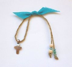 Boy Baptism, Christening, Wooden Beads, Glass Beads, Arrow Necklace, My Etsy Shop, Handmade Items, Turquoise, Silver