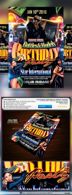 Buy Birthday Party by RomacMedia on GraphicRiver. Please remember to Rate Purchased Items. Your support is greatly appreciated, Thanks. Club Parties, Birthday Parties, Party Models, Information Graphics, Party Flyer, Karaoke, Flyer Template, Happy New Year, Champagne
