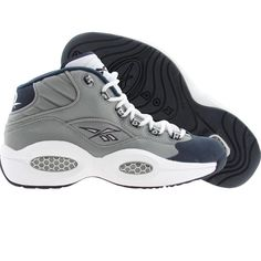 Reebok Men Question Mid - Georgetown Hoyas (flat grey / athletic navy / white) J99179 - $125.00