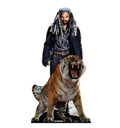 Advanced Graphics This is a life-size cardboard cutout of Ezekiel and Shiva from AMC's The Walking Dead. This cutout is just the thing for that special post-apocalyptic zombie fighter in your life. Get yours today! Walking Dead Series, Walking Dead Funny, Walking Dead Zombies, Fear The Walking Dead, Zombie Fighters, King Ezekiel, Life Size Cardboard Cutouts, Wwe The Rock, Glinda The Good Witch