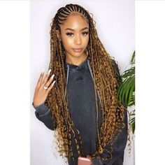 I dont own this picture! Great promo prices Persona Via: . I dont own this picture! Box Braids Hairstyles, Blond Hairstyles, Braided Hairstyles For Black Women, Trending Hairstyles, Nigerian Braids Hairstyles, Dance Hairstyles, Medium Hairstyles, Formal Hairstyles, Black Girl Braids