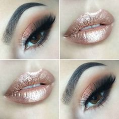 Trendy, Metallic Lips Makeup Idea