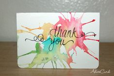 DIY Simple Thank You Cards / AdoreCarol