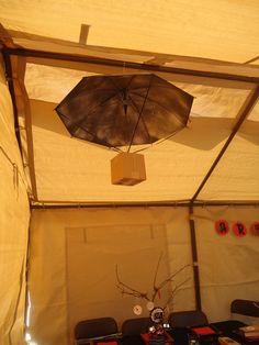Okay, so I think I like the bigger parachute better. Thrift store umbrella time :)