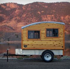 Who would want to tow a big plastic factory-made camper around when they could have a charming hand-crafted tiny home? The Terrapin by Casual Turtle Campers is a compact and comfortable place to camp with a design inspired by the small trailers of the 1950s and '60s. Mounted to a 5'x8' trailer frame and weighing in at 1,360 pounds, the Terrapin is portable enough to go nearly anywhere but spacious enough for a dinette that transforms into a double memory foam bed so it's comfortable for both…