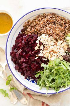 Quinoa Salad Recipes Cold, Asian Quinoa Salad, Southwest Quinoa Salad, Mediterranean Quinoa Salad, Beet Recipes, Meatless Recipes, Healthy Recipes, Recipes, Restaurants