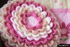 Crocheted Blooming Flower Pillow