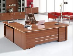 2015 New Arrival Wooden Solid Wood Modern Office Desks Office Desk Office Table Office Furniture Small Office Design, Office Table Design, Office Furniture Design, Office Interior Design, Office Interiors, Executive Office Decor, Modern Office Desk, Home Office Space, Office Desks