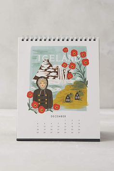 Travel The World 2016 Desk Calendar - anthropologie.com
