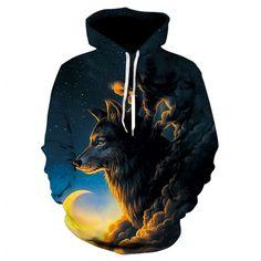 Wolf Printed Hoodies Men 3d Hoodies Brand Sweatshirts Boy Jackets Quality Pullover Fashion Tracksuits Animal Streetwear Out Coat Price: 15.38 & FREE Shipping #hashtag1 Hoodies For Sale, Cheap Hoodies, Male And Female Animals, Wolf 3d, Wolf Hoodie, Wolf Design, Fashion Prints, Maya