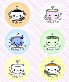 Cute happy friendly tea cups!