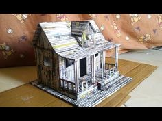 DIY Miniatur Rumah dari Koran | How To Make a House From Newspaper - YouTube Recycled Paper Crafts, Cool Paper Crafts, Paper Crafts Origami, Fun Crafts, Diy Home Crafts, Diy Arts And Crafts, Diy Craft Projects, Pinterest Diy Crafts, Diy Doll Miniatures