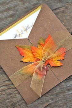 Fall Wedding Invitations With Brilliant Colors Of Autumn - Invitaciones para boda en Otoño. Spring Wedding, Diy Wedding, Wedding Ceremony, Wedding Venues, Dream Wedding, Wedding Day, October Wedding, Handmade Wedding, Lace Wedding