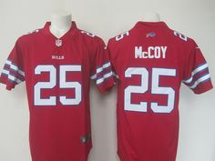 NFL Buffalo Bills 25 McCoy Red Color Rush Limited