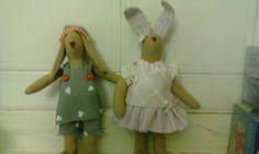 Coppia coniglietti tilda