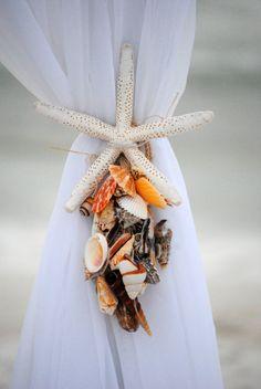 Beach arbor tie, @Surfside Brides