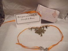 THIS IS A SAMPLE OF WHAT I CREATE!  This kit contains an antique tree pendant, leaf charms, beads, ribbon, gift box, and business card with catch phrase. Cold Calling, Tree Pendant, Attraction, Stuff To Do, Charms, Ribbon, Kit, Antique, Beads