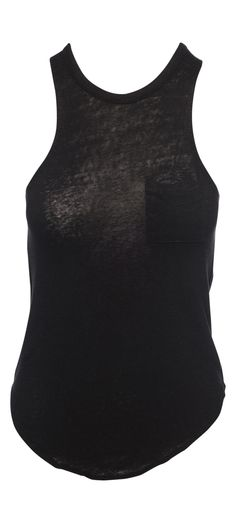 Chaser Linen Jersey Pocket Shirttail Muscle in Black / Manage Products / Catalog / Magento Admin