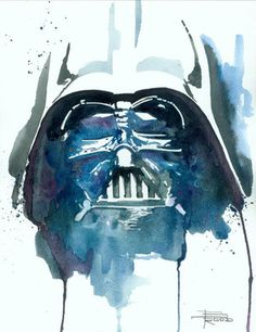 Vader by Brian Rood  Original Watercolor on Paper