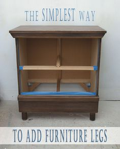 The simplest way to add furniture legs to a smaller piece of furniture is by using T-Nuts!