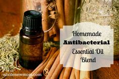 Make your own Homemade Antibacterial Essential Oils Blend - like Thieves Oil. Use for fighting illness, cleaning, and more.