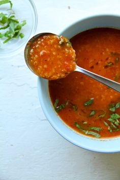 red pepper and bulgur soup