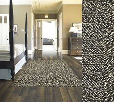 Shaw Living area rug in the World Market Craft collection in style Reflection Pool, color Black.