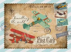 Travel Themes, Birthday Party Themes, Decoupage, Scrapbook, Vintage, Prints, Diner Decor, Manualidades, Autos