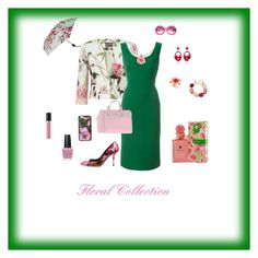 """Floral Collection"" by michelechambers ❤ liked on Polyvore featuring Phase Eight, Dolce&Gabbana, Blugirl, Oliver Goldsmith, Ranjana Khan, Kate Spade, Oscar de la Renta, Chanel, Revlon and OPI"