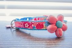 Floral dog collar, cat pet collar harness accessories, Japanese Kimono Girl pink dog collar, custom metal buckle small dog collar, pet gift