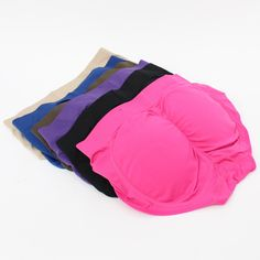 6 Pairs: Butt-lifting Panties (COLOR). 85% nylon, 15% spandex. One size (24 inches up to 32 inches) : Pads are removable. COLOR INCLUDES:1 black, 1 beige, 1 blue, 1 brown, 1 pink, and 1 purple. BASIC INCLUDES:2 black, 2 beige, 2 dark beige. ALL BLACK INCLUDES: 6 black.