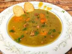 Split Pea and Ham soup.....only use 1 1/2 tsp pepper :)