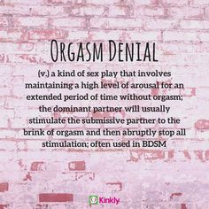 Interested in learning more about orgasm denial? We've got a whole guide on the topic by Sunny Megatron! Daddys Girl Quotes, Daddy's Little Girl Quotes, Freaky Quotes, Naughty Quotes, Denial Quotes, Wisdom Quotes, Quotes Quotes, Teasing Quotes, Submission Quotes