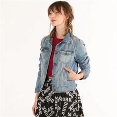 Veste en jean Veste Manteau Femme, Veste En Jean, Adolescente, Tenue, Vestes 9ecabd1fcece