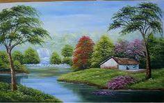 pintura de tela de paisagem - Buscar con Google