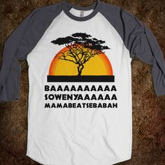 The Lion King. I must own this shirt.
