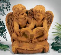 Li'L Angels Reading On Pillow  This statue can be purchased at www.apollostatuary.com