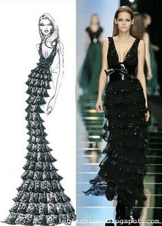 Lebanese Fashion: Elie Saab's Designs Sketches