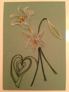 Lilies by quilling