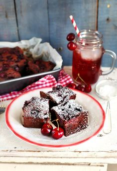 Cake Cookies, Panna Cotta, Cake Recipes, Waffles, Vanilla, Cherry, Food And Drink, Pudding, Sweets