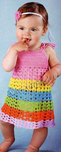 Яркий ажурный сарафанчик для вашей маленькой модницы :-)