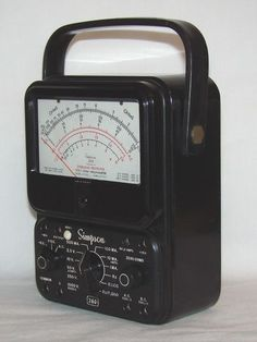 My first voltmeter around Never owned but used extensively. The model shown has overload protection (white button) and other models I used had the anti-parallax mirror. Volt Ampere, Diy Tech, Circuit Design, Antique Tools, Shop Layout, Ham Radio, Retro, Old Things, Models