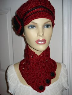 Classy Adult Red Newsboy Cloche Hat Free by Crochet Newsboy Hat, Knitted Hats, News Boy Hat, Cloche Hat, Scarves, Classy, Knitting, Trending Outfits, Unique Jewelry