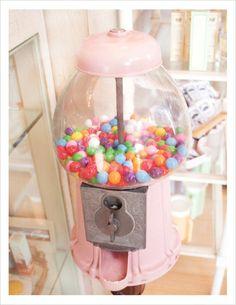 Pink gum ball machine