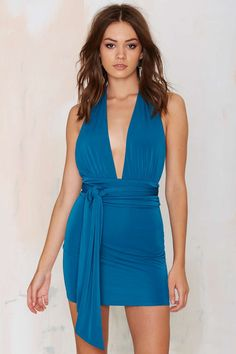Nasty Gal That's a Wrap Halter Dress | Shop Clothes at Nasty Gal!