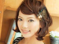 ショートボブのヘアアレンジ④ 前髪アレンジは2分で可愛く♪
