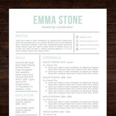 simple and clean resume design resume template cv template