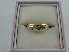 Gold Pre Loved 9ct Solid Yellow Gold 16Diamond Band 2.5grms (eBay item 321003877857 end time 24-Oct-12 19:00:25 AEDST) : Jewellery Watches